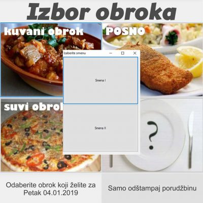 Program za poručivanje obroka